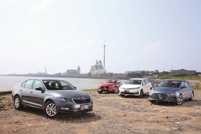 方城之戰 重新洗牌(1-4)Skoda Octavia vs. Hyundai Elantra vs. Mazda 3 vs. Toyota Altis