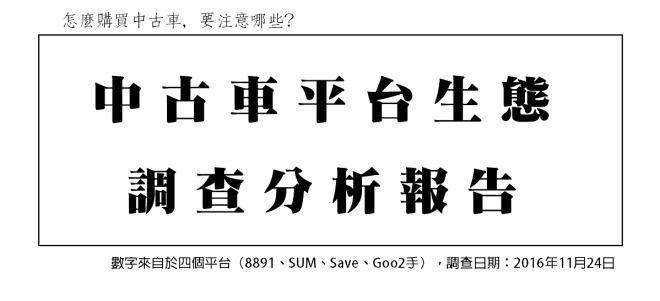 中古車平台生態調查分析報告~連載01