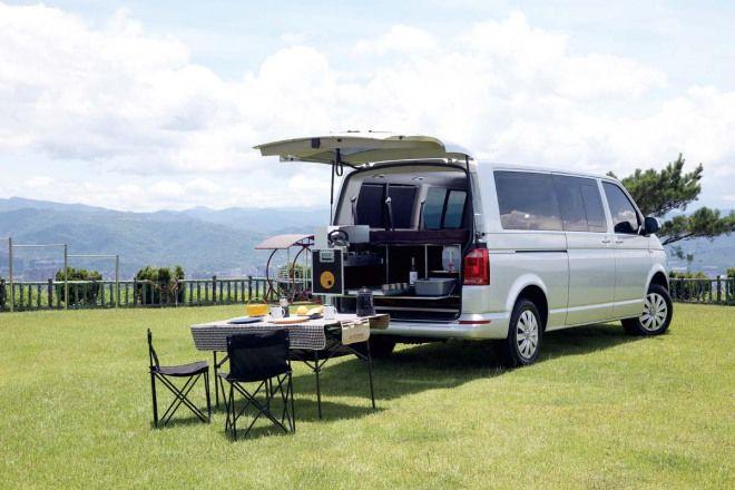 30秒 愛車輕鬆變身豪華度假村,VW Caravelle專屬露營套件組