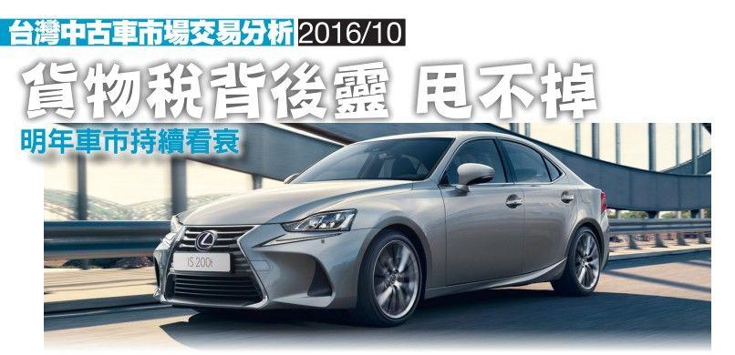 2016年10月台灣中古車市場交易分析