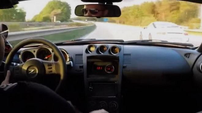 350Z與911 GT3公道競速 没想到這兩輛跑車都被這又老又小的掀背車電...