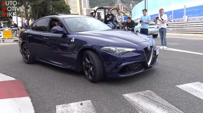 Alfa Romeo Giulia Quadrifoglios風暴掃進Monaco