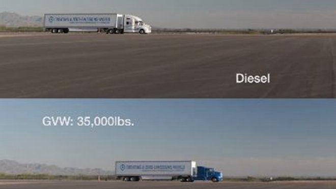 Toyota的燃料電池卡車動力能輕易地甩開搭載柴油引擎的對手