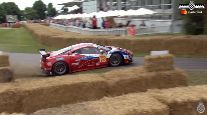 義大利紅鬃烈馬 Ferrari 458 GT2 Goodwood 失蹄吃草去!!!