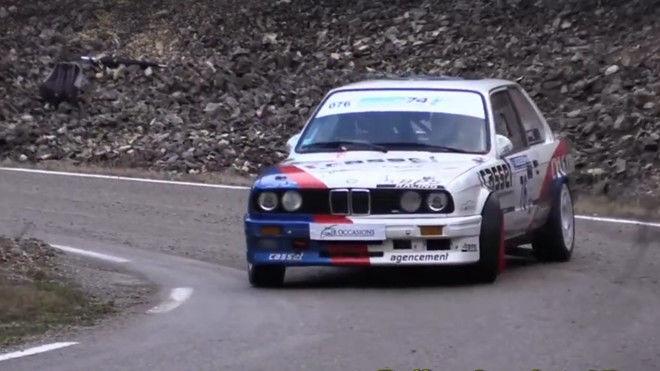 這名BMW E30的車手原本要參加的應該是甩尾賽而不是拉力賽吧...