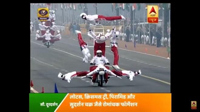 印度共和國慶日摩托車騎士展現驚人的誇張特技 InCara癮車報
