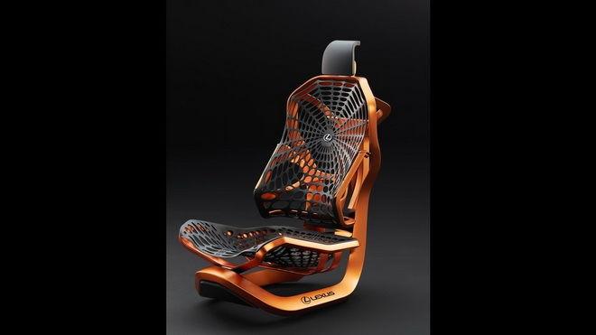 不止網住你的視線 Lexus Kinetic Seat Concept座椅也要網住你的身體