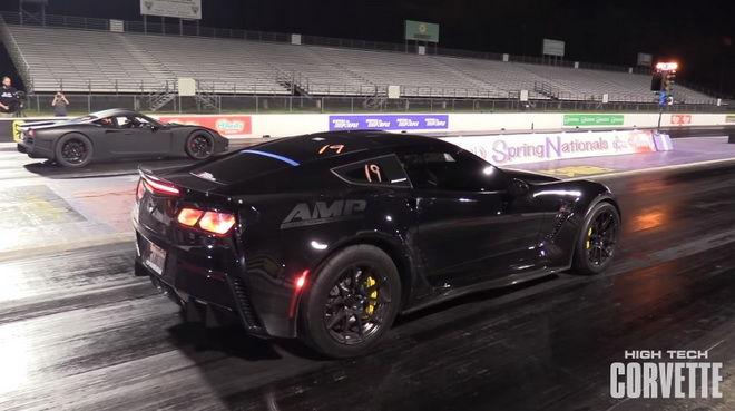 1100hp C7 Corvette  Z06 1/4英里加速 瘋狂的快!!!