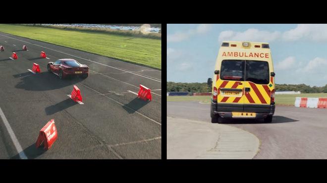 [影片]F1冠軍車手就是不一樣 Sebastian Vettel開「救護車」單圈也能贏過Ferrari 488 GTB