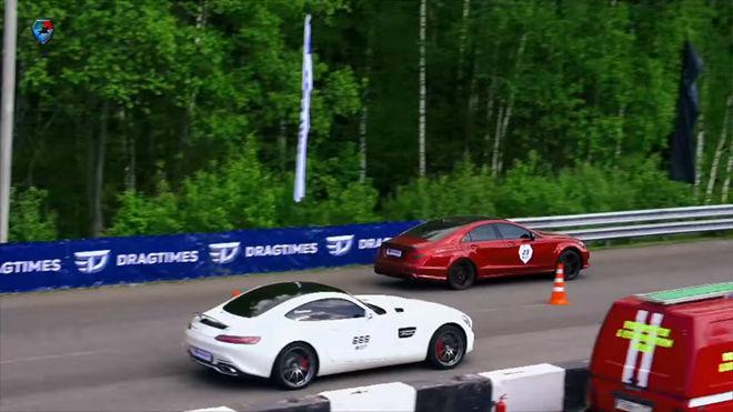 [影片]Mercedes-AMG三兄弟直線加速鬩牆 「600ps GT S」對抗「CLS63與ML63」