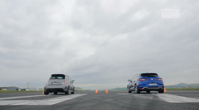 Renault Megane GT VS. Fiat 500 Abarth 1/4英里直線撕殺