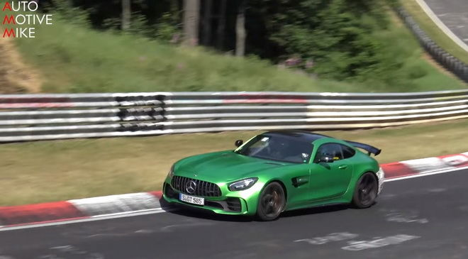 "Mercedes-AMG GT R再現身""綠色地獄"" 這是AMG GT4道路版還是Black Series呢???"