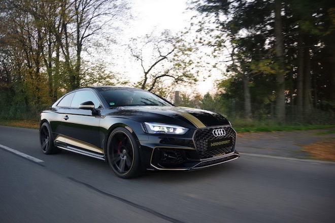 黑金版的Audi RS5 Coupe換上KW競技化懸吊再加上ECU優化,好猛啊!