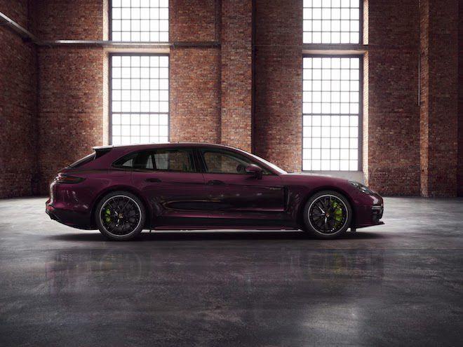 紫色塗漆配上螢光綠卡鉗,這台Panamera實在夠正點!