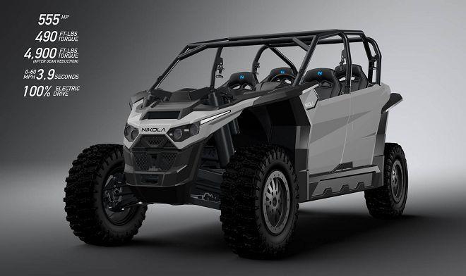 Nikola Zero電動越野車的555 hp最大馬力讓駕駛能體驗極致越野快感