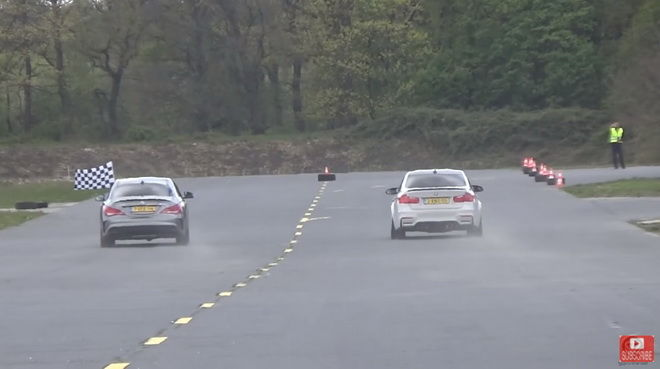 BMW M3 VS. M-Benz A45 AMG VS. CLA45 AMG直線挑戰賽