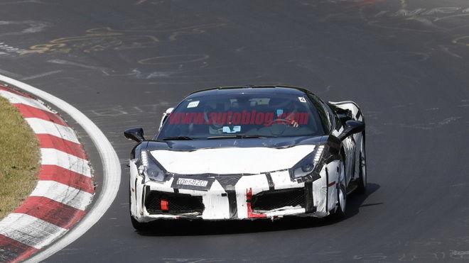 這是488新車型嗎??? 神秘Ferrari現身Nurburgring北環賽道!