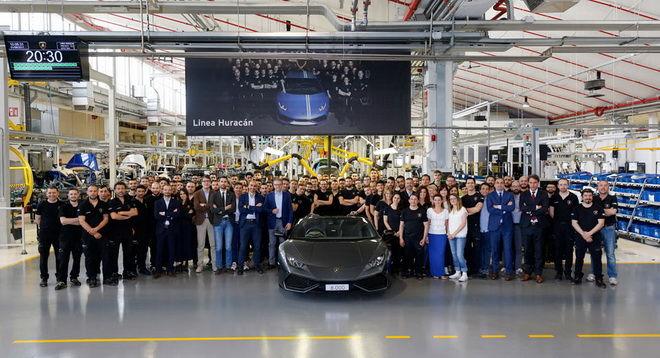 短短三年已超過Gallardo的一半 Lamborghini慶祝第8,000輛Huracan出廠