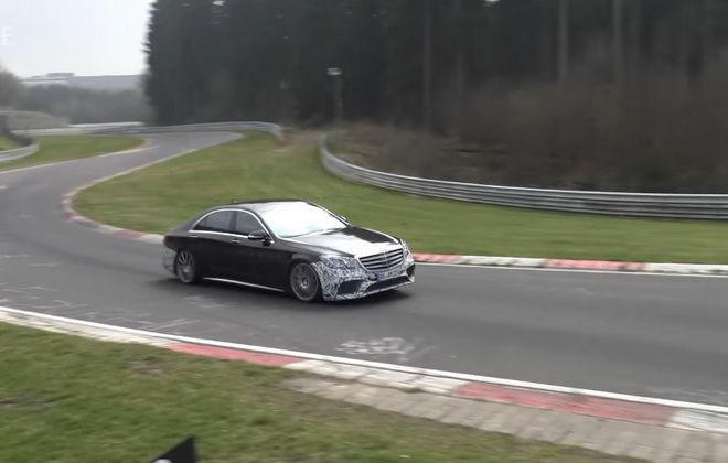 怒吼聲浪驚人! 2018小改Mercedes-AMG S63現身Nurburgring北環測試