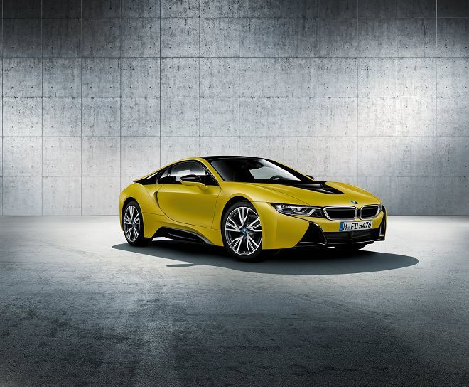 BMW在上海車展前搶先公布i8 Protonic Frozen Yellow Edition