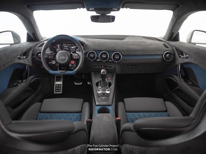經由Neidfaktor的巧手改造之後,這輛Audi TT RS的內裝盡顯高檔風格!