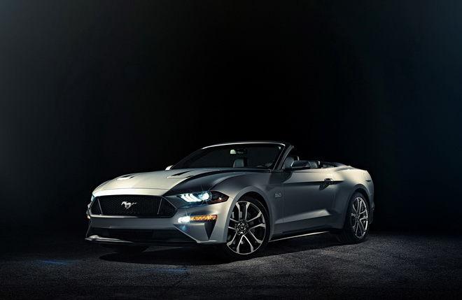 新上空野馬露臉 Ford釋出 2018小改Mustang敞篷車精美照
