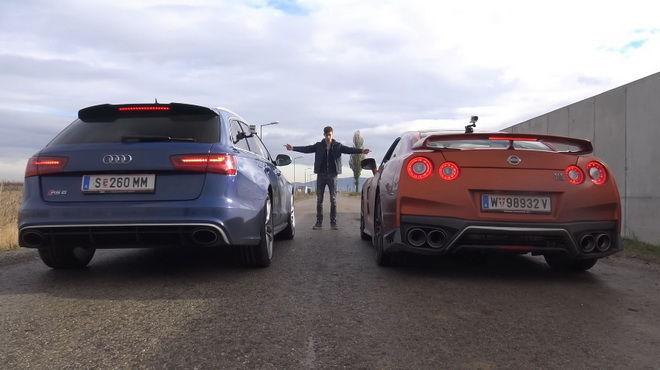 Audi RS6 Avant一次又一次的試圖打敗2017 Nissan GT-R