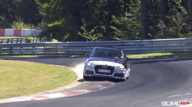 會跑的車就要用力操 Audi RS3 Sedan現身Nurburgring北環激測