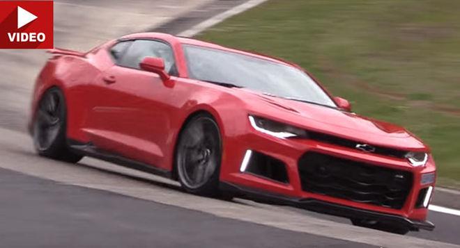 [影片]紅皮大黃蜂來啦 Chevrolet Camaro ZL1現身Nurburgring