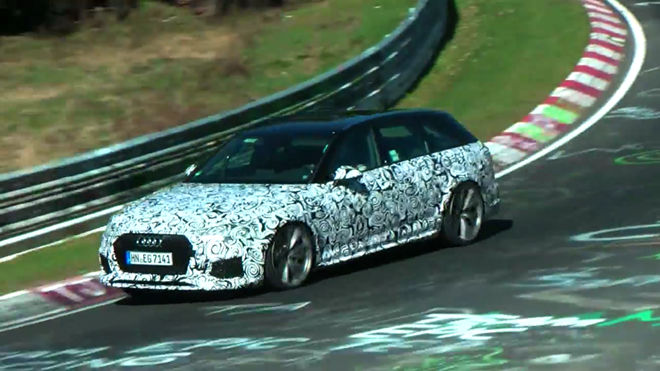 Nurburgring賽道間諜影片  Audi RS4 Avant將換裝雙渦輪增壓V6引擎