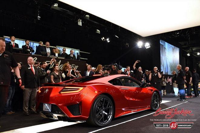 2017 Acura NSX #001以120萬美元賣出! 全數金額捐作慈善之用