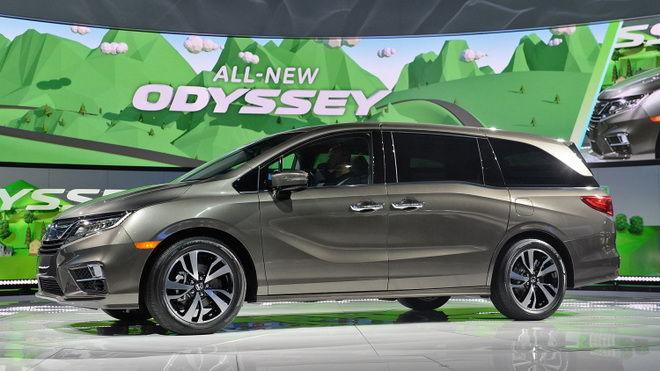 2017底特律車展:Honda正式發表2018大改款Odyssey美規車型