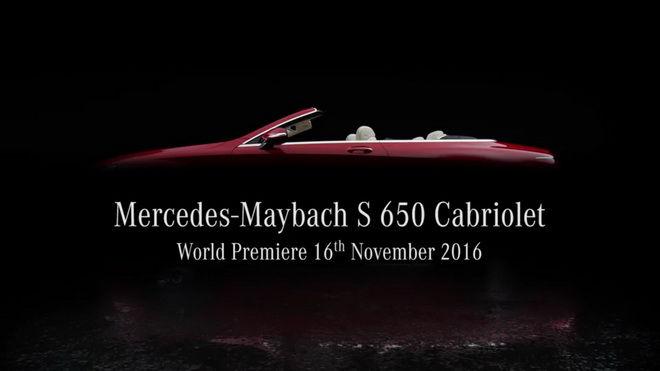 史上最頂級敞篷Mercedes-Maybach S650 Cabriolet將在LA展露它的奢華