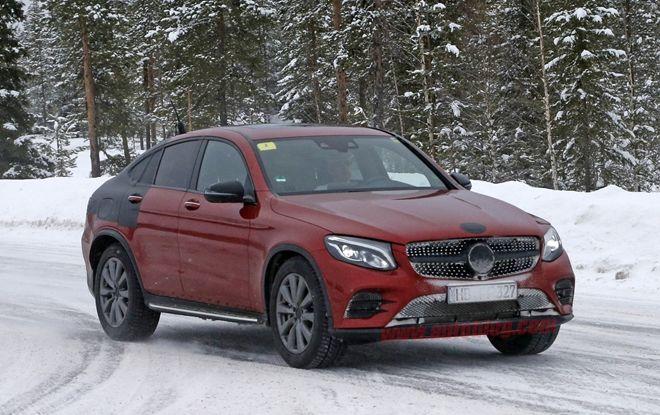 幾乎完全裸露 Mercedes-Benz GLC Coupe 最新間諜照曝光