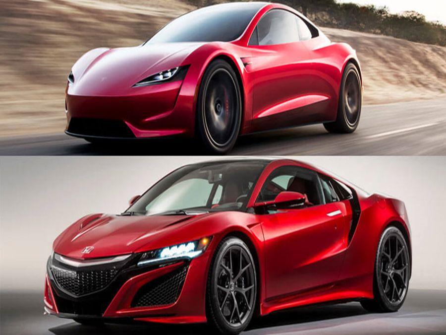車紅是非多!Tesla Roadster外型抄襲Honda NSX?