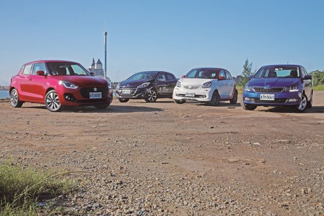 (下集)Suzuki Swift vs. Skoda Fabia vs. Peugeot 208 vs. Smart Forfour   當螺仔成為主流