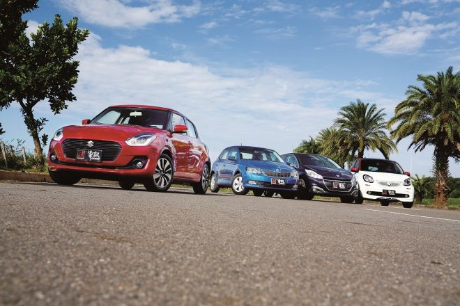 (上集)Suzuki Swift vs. Skoda Fabia vs. Peugeot 208 vs. Smart Forfour   當螺仔成為主流