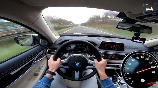 BMW頂級豪華旗艦M760i 德國Autobahn高速巡航 最高時速逹320km/h!!!