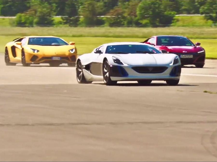 Lamborghini與Honda超跑快看不到它的尾燈了!