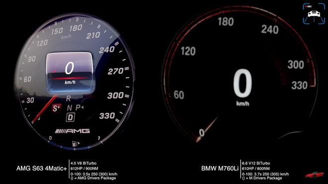 雙B豪華大房車300km/h境界的對決 BMW M760Li VS. Mercedes-AMG S63