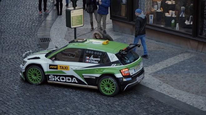 賽事結束 閒來無事 Jan Kopecky開著Skoda Fabia R5拉力賽車兼差賺外快 乘客爽到爆!!!