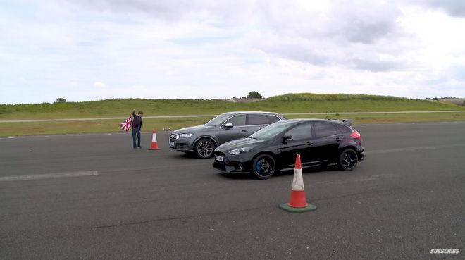 異族對決 Ford Focus RS越級挑戰Audi SQ7直線零四加速 有勝算嗎???