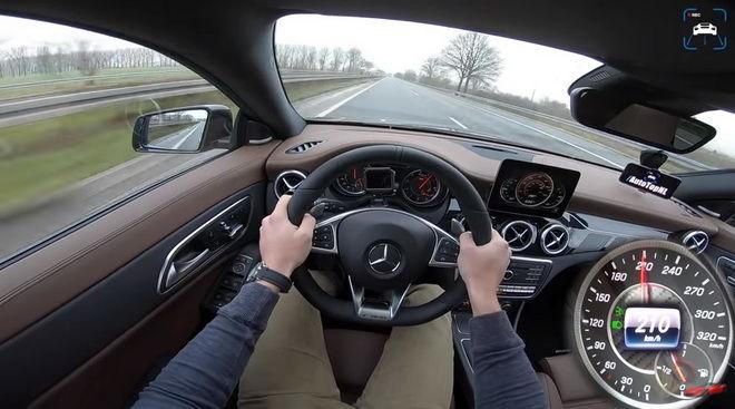 朋友們 一起來欣賞Mercedes-AM 45 CLA 45逹到270km/h最高速度的過程