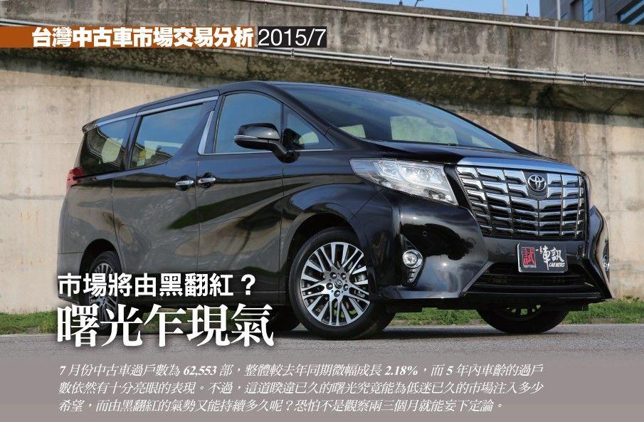 台灣中古車市場~七月份交易分析