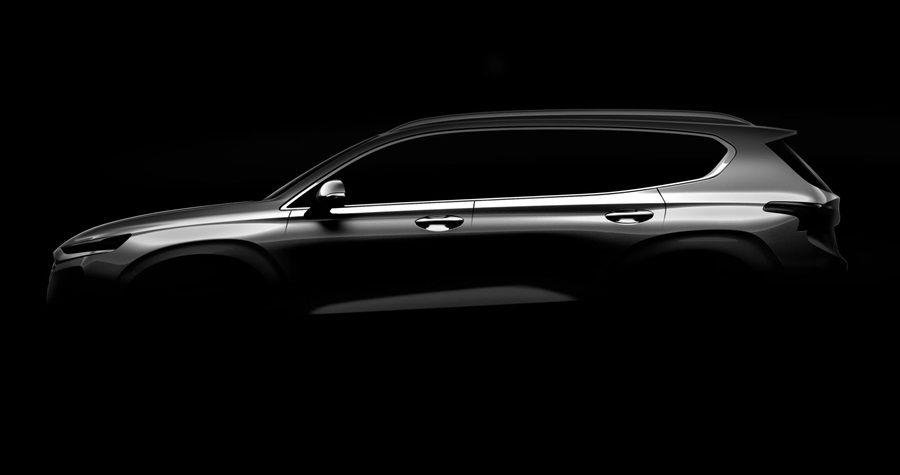 現代汽車公布新一代Santa Fe外觀輪廓照