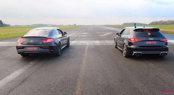一樣經過改裝升級 動力較小但有四驅的Audi RS3會比Mercedes-AMG C63更快嗎???