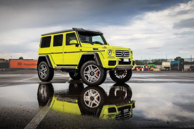 「越野皇帝」Mercedes-Benz G500 4×4²是不是帥到讓你自卑了呢?(誰能比我帥?)
