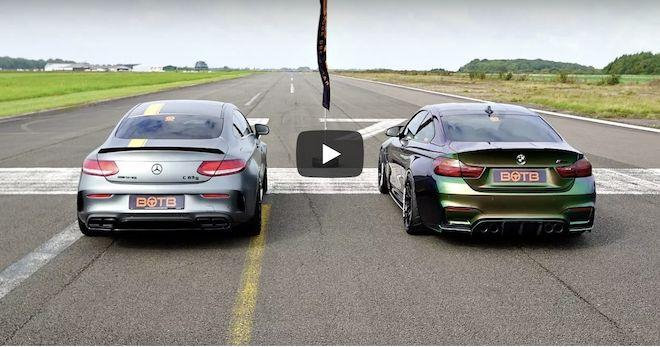 「超美型雙門性能戰將Mercedes-AMG C63 S Coupe V.S 純正暴力血統BMW M4!未看先猜,你覺得誰贏?(內有影片)