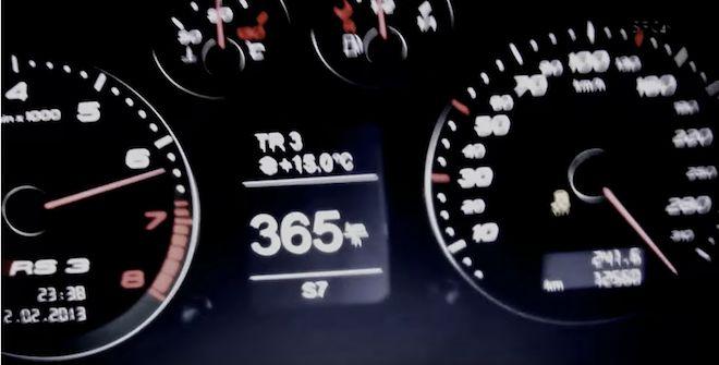 「扯!」這輛爆改Audi RS3竟直接無視於時速表上的極速,直接狂飆至365km/h!(內有影片)