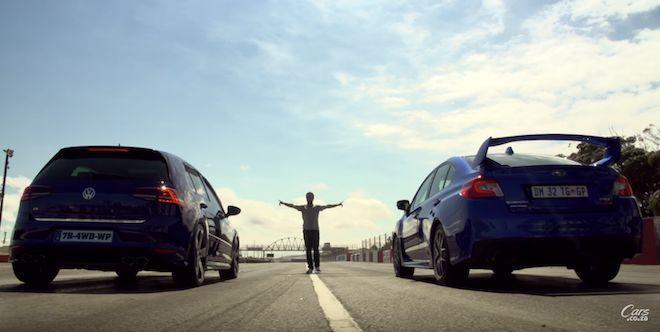 同為四驅與300hp狂放動力,Subaru WRX STI是否能以水平對臥引擎擊敗鋼炮之王Volkswagen Golf R呢?(內有影片)
